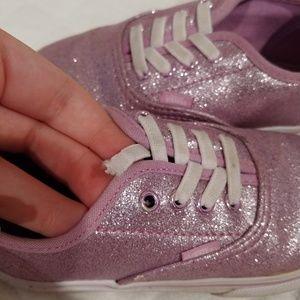 Vans Shoes - 9.5 girls sparkly purple vans